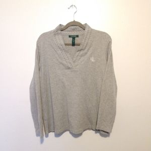 Women's Ralph Lauren Grey Long sleeve V neck